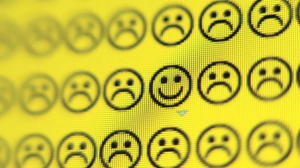 Frowney face changes to smiley face