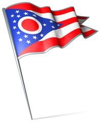Flag pin - Ohio (USA)