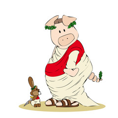Giulio Cesare pig