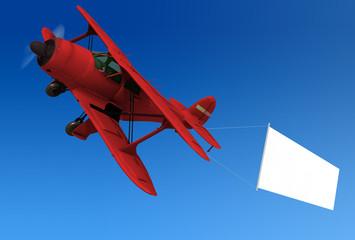 avioneta y cartel