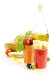 Fresh ingredients for an Italian dinner