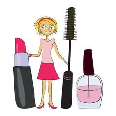 femme maquillage