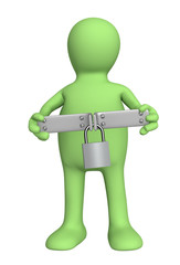 3d puppet with closed lock