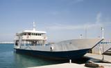 car and passenger commuter ferry greek island paros antiparos poster