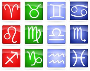set segni zodiacali