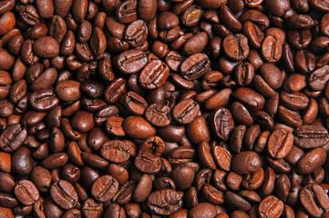 coffee beans, macro closeup