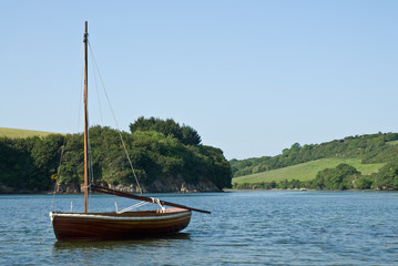 Boat in Estuary on a summer's day.