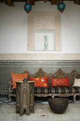 Maroc : salon oriental (mélange contemporain et ancien) #3