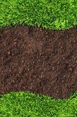 Grass and soil frame