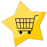 icon e-commerce, shopping trolley poster