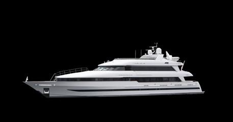 Super Yacht on Black