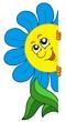 Detaily fotografie Číhající karikatura květ