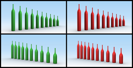 Graphs Wine Bottles