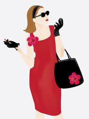 elegant stylish lady illustration