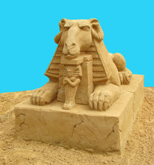 Sculpture from sand. The Roman she-wolf