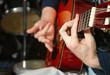 hand of guitarist