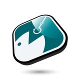 fisch angeln hobby zeichen poster
