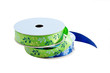 blue and green craft ribbon