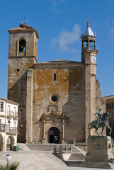 Mayor Square in Trujillo. Caceres, Spain.