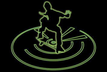 Multiglow Skateboarder