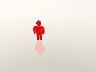 Einzelne Person