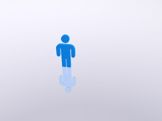 Einsame Person