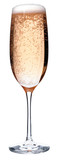 Glass of pink champagne
