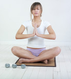 femme zen posture yoga poster