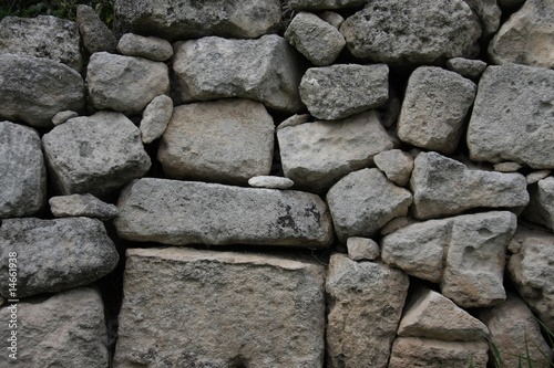 Historic granite wall, background texture