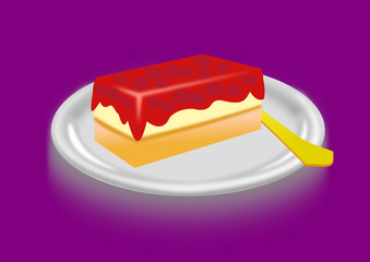Teller mit Kuchen