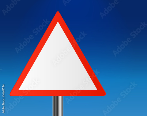 Warning Road Signs. Blank Triangle warning or road