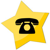 icon e-commerce, telephone poster