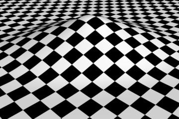 tiled black white