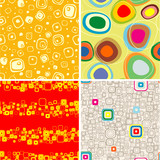 Set seamless backgrounds from geometry figure. poster