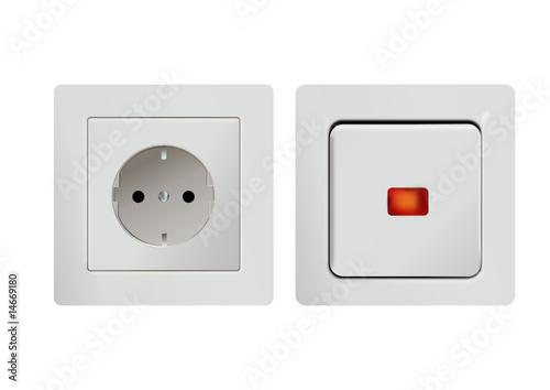 lichtschalter und steckdose stockfotos und lizenzfreie vektoren auf bild 14669180. Black Bedroom Furniture Sets. Home Design Ideas