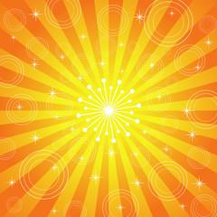 Abstract Sun Burst Summer Background