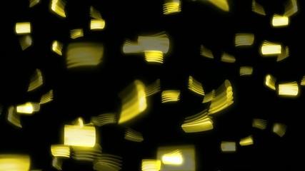 Cotillons doré fond noir