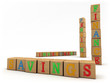 Savings concept - Child's play building blocks