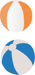 Vectorized illustration of beach balloons.