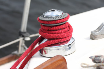 winch of a sailboat