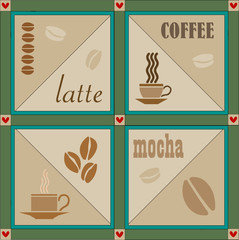 Vector lovely coffee related illustration