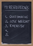 quit smoking, exercise, loose weight poster