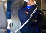 Fototapety Flight Attendent Announcement