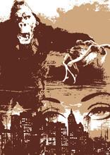 cartel de la película del mono