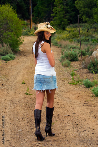 sexy country girl walking away