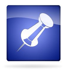 icona puntina blu