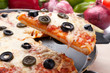 cheese and olive pizza