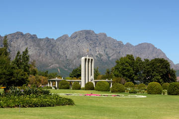 French Huguenot monument Franschhoek, South Africa