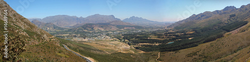 Franschhoek valley panorama Cape Town South Africa