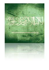 grunge flag of saudi arabia with shadow